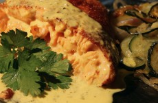 cordon bleu de saumon et courgettes sautées