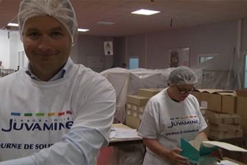 Journée de solidarité chez Juva Production à Forbach