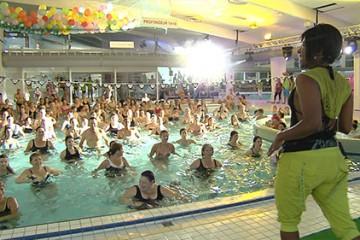 Ambiance de fête au centre nautique de Sarreguemines