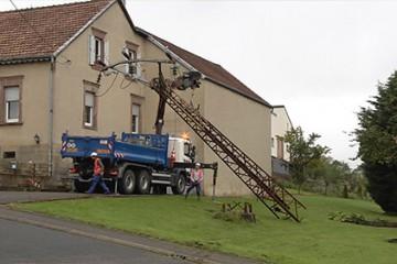 Le chantier d'enfouissement des lignes à haute tension se termine à Rémelfing.