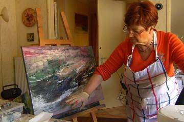 L'artiste Odile Weidig nous a ouvert les portes de son atelier entre ses expositions à Vienne et au carrousel du Louvre