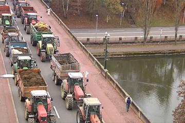 les agriculteurs ont manifesté leur colère