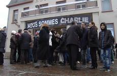 Rassemblement républicain à Sarralbe en hommage aux victimes de l'attentat contre Charlie Hebdo.