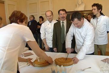 sous-préfecture de Sarreguemines avec la traditionnelle galette des boulangers
