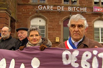 Le collectif Sarreguemines-Bitche pour la défense du rail milite