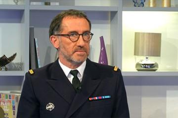 Le lieutenant de vaisseau Jean-Michel Latargez
