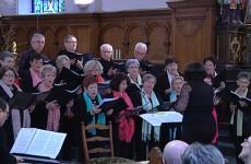 Le choeur Allegria a chanté pour la rénovation du réseau électrique de la chapelle de Grosbliederstroff