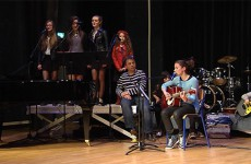 Erza a chanté avec les autres élèves de l'école de musique de Sarralbe