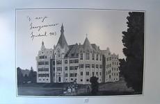 des locataires qui vivent dans l'ancien Hôpital du Parc peuvent se rendre compte de l'aspect que ce bâtiment présentait en 1903