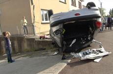 voiture volée et accidentée rue de la montagne