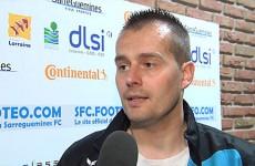 L'entraîneur du SFC Sébastien Meyer remercie Mosaïk