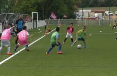 Le Sarreguemines FC et le FC Metz jouent sous les même couleurs à l'occasion de la journée des talents Grenat Mosellan