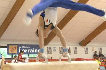 match international de gymnastique France Belgique, avec l'équipe de France Junior masculine