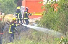 2 hectares de friche sont partis en fumée aux abords de la nouvelle gendarmerie de Sarreguemines