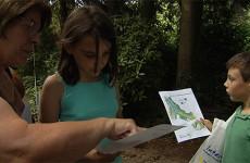Le ministère sarrois de l'économie a organisé une chasse aux trésors au jardin franco-allemand pour faire la promotion de son programme Interreg