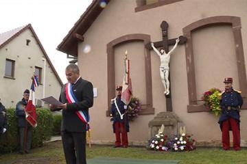 Pour la période du Centenaire de la Première Guerre mondiale, la municipalité de Kalhausen (Moselle) et l'Association Historique (AHK) organisent une cérémonie