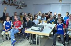Les amoureux de basket se retrouvent à Hambach pour suivre les matchs de l'équipe de France sur écran géant