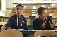 Sergio et Alejandro, du Mexique à Sarreguemines pour étudier la logistique.