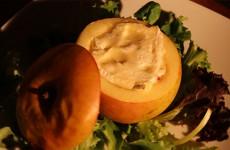 Pommes farcies aux lardons et camembert