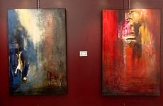 Marie-Claire Chouly, Muriel Hantz, Marie-Andrée Lett et Yolande Podlasz exposent leurs peintures à l'hôtel de ville de Sarreguemines.
