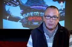 Éric Burgun, projectionniste aux cinémas Forum