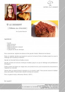Le gâteau au chocolat préféré de Cyrielle MERSTORF