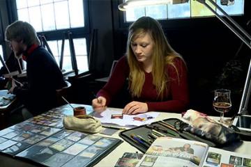 Christel alias Nordique Queen joue un rôle particulier dans le jeu de cartes Magic.