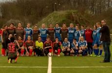 1er match de foot pour la toute jeune équipe féminine de Continental