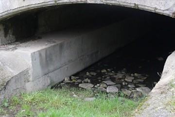 Le tunnel sous le canal de la Sarre à Wittring