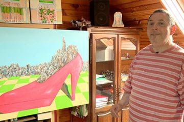 Le peintre Sylvain Fischer est un adepte de jeux de mots