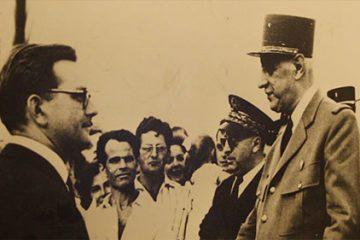 Visite de Charles De Gaulle à Woustviller le 2 juillet 1961