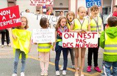 manifestation, école, Etting, Schmittviller