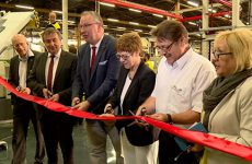 à la veille des portes ouvertes de son centre de formation, l'usine Michelin de Homburg inaugure une nouvelle machine de production