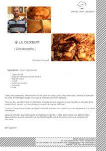 Griesknepfle, ou galette de semoule de blé tendre