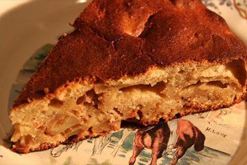 Gateau aux pommes et fromage blanc de la ferme Herrenstein