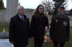 Les élèves de l'Institution Sainte Chrétienne ont apporté à Sarreguemines la Flamme Sacrée de la tombe du soldat inconnu