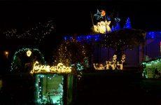 La famille Dallem de Woustviller a illuminé sa maison aux couleurs de Noël. Ils ont également invité le Père Noël et différentes associations de la commune pour récolter des fonds au profit de l'AFAEI.