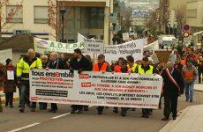 Manifestation contre la gestion des déchets ménagers en Moselle-Est.