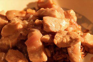 Découvrez l'engrain bio de la ferme Belair dans un recette de fricassée de poulet.