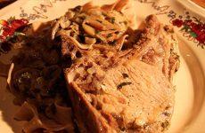 Côtes de porc flambée de la ferme les 3 chênes à Winstersbourg.