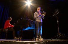 Octave Brubacher, tromboniste de 14 ans, joue « A la manière de Vivaldi » de Jean-Michel Defaye.