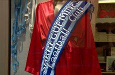 La ville montre son soutien au club avant le match de coupe de France.