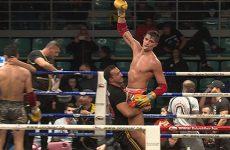 Cédric Tousch a remis en jeu sa ceinture de champion du monde de kick-boxing.