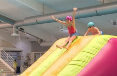 Les écoles primaires de la CASC participent aux Agglo Olympiade au Centre Nautique.