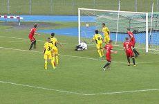 Les footballeurs sarregueminois disputaient un match très important à Haguenau.