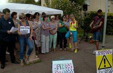 Le personnel du collège Jean-Jaurès était en grève avec le soutien des parents d'élèves.