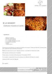 Clafoutis rhubarbe, vanille
