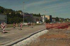 Le chantier de l'avenue marchande de Grosbliederstroff avance normalement.