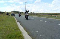 Les motards se rassemblent à Woustviller suite au décès de Christophe Bendenritter.