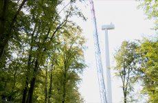 Éoliennes en construction à Herbitzheim